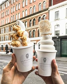 "(@londonsbest) on Instagram: ""The suns out in London today & we want #londonfood by @koentadyy at @softservesociety…"""