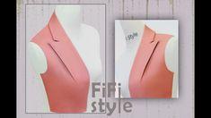 FiFi Style : Cuello creativo de estilo plegable de papel Origami Fashion Sewing, Diy Fashion, Sewing Hacks, Sewing Tutorials, Pattern Drafting Tutorials, Simple Frock Design, Origami Paper Folding, Modelista, Collar Designs