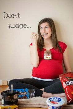 Maternity Photography - Maternity Photo   Shoot cute idea to remember what you were craving