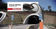 creative Miele vacuum machine outdoor advertisement tunnel