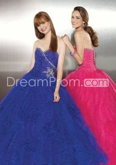 Luxurious Ball Gown Floor-length Lace-up Quinceanera Prom Dresses GF34268