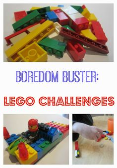 Boredom Buster: Lego Challenges - great for winter break, or snowy days!