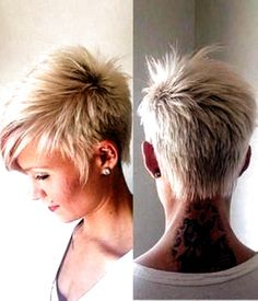 Hairstyles Over 50, Trending Hairstyles, Pixie Hairstyles, Hairstyles 2016, Short Hair Cuts For Women, Short Hairstyles For Women, Pixie With Undercut, Funky Short Haircuts, Haircut Short