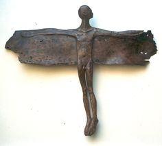 Carl Roberts / what amazing works ( please note that these are sold works however we can be contacted for any of Carl's current works ) LUVIT ! Sculpture Museum, Bird People, South African Art, Found Object Art, Assemblage Art, Recycled Art, Contemporary Art, Wooden Sculptures, Wings