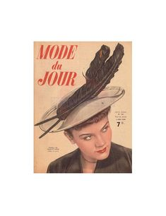 French Mode du Jour magazine in French - May 6 1948 Instant Download PDF 11 pages Pdf Patterns, Craft Patterns, Vintage Patterns, Magazine, 1940s, Etsy, French, Knitting, Crafts