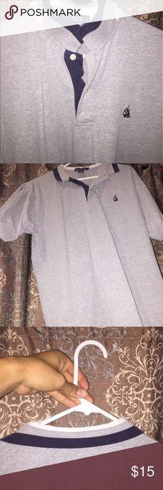 Vintage nautica polo Short sleeve nautica polo blue and white collar Nautica Shirts Polos