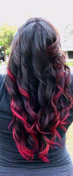 Long Colorful Spring Break Hair <3