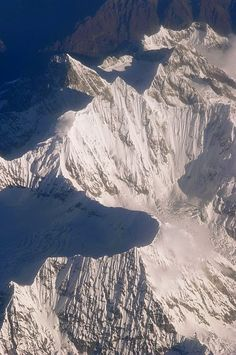 "Aerial view, Himalaya Mountains, Pakistan - Wow gives you a clear perspective of the ""North Face"""