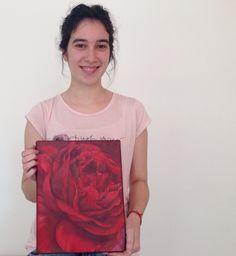 Obra de Marianita, alumna de 1er año año del #profesorado de #pinturadecorativa #flower #art