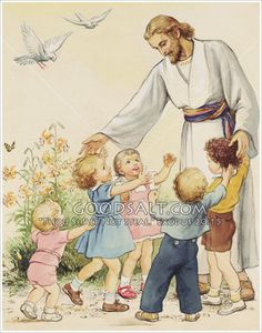 Jesus Blessing the Children Pictures Of Christ, Church Pictures, Christ In Me, In Christ Alone, Jesus Is Risen, Jesus Loves, Christ The Good Shepherd, Image Jesus, Bless The Child