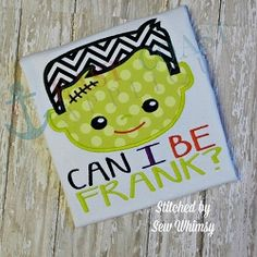Be Frank Applique - 4 Sizes! | What's New | Machine Embroidery Designs | SWAKembroidery.com East Coast Applique