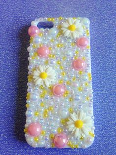 Iphone 5 White Daisy Decoden Phone Case. Cute Summer by sorayraya