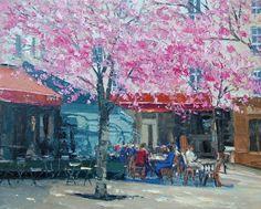 Cherry Trees, Montparnasse (Print)