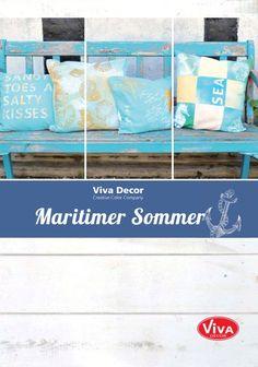 "Ein ganzes Heft mit ""sandy toes and salty kisses"" zum Durchblättern. Here is our summer decoration. Whatch the folder: https://www.yumpu.com/de/document/view/55565167/diy-maritimer-sommer"
