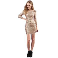 Sexy Women Luxury Glitter Dress Fashion Gold Sequin Design Bodycon Ladies Backless Dresses Spring Striped Long Sleeve Dress