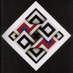 Omar Rayo Reyes, Pintores <span>(Abstraccion geometrica)</span>| ColArte | Colombia Action Painting, 3d Quilts, Barn Quilts, Op Art, Panel Art, Geometric Art, Optical Illusions, Quilt Blocks, Fiber Art