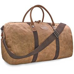 90503495ea02 7.best duffle bags for travel  Travel Duffel Bag Waterproof Canvas  Overnight Bag Leather