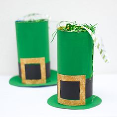 Cereal box leprechaun hat goodie bag