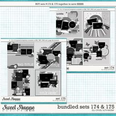 Cindy's Layered Templates - Bundled Sets #174-175 by Cindy Schneider