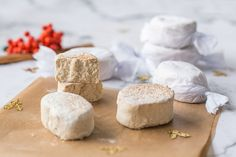 Spanish polvorones. Super crumbly and soft Spanish Xmas sweets. We love it!!!   holafoodie.com