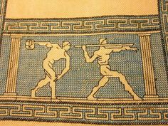 Traditional Tapestries, Greek Design, Ancient Greece, Cross Stitch, Tapestry, War, Embroidery, Rugs, Charts