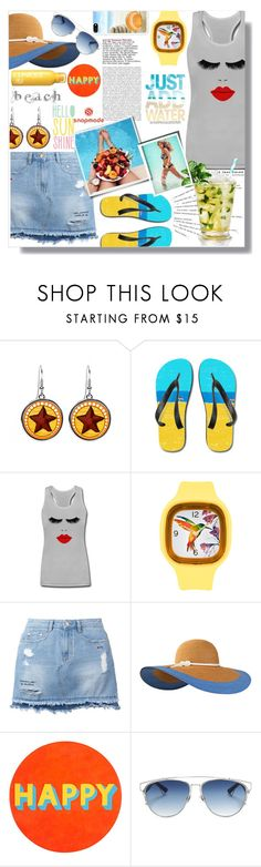 """""""Snapmade 3/2"""" by pesanjsp ❤ liked on Polyvore featuring Katie, Steve J & Yoni P, Seafolly, Too Faced Cosmetics, Eugenia Kim, Lisa Perry, Christian Dior and Oonagh by Nanette Lepore"""