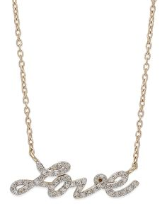 YellOra Diamond Love Pendant Necklace in YellOra (1/6 ct. t.w.)