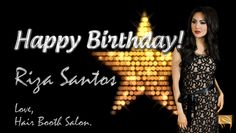 ☆ Join us in wishing our beautiful HAIR BOOTH Ambassador Riza Santos, a very Happy Birthday today! ☆  #birthdaywishes #rizasantos #hairboothsalon