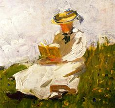 Franz Marc, Woman Reading in a Meadow, 1906