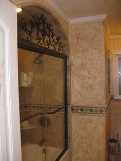 Small tuscan bathroom tuscan decor pinterest tuscan for Small bathroom goals