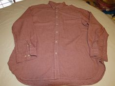 The Territory Ahead XL red white long sleeve button up Shirt EUC @ #TheTerritoryAhead #ButtonFront