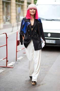 Couture Week Paris Love the little jacket over the shoulders