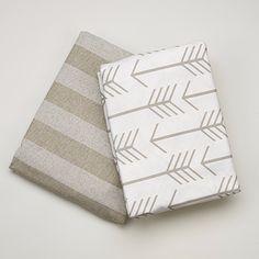 Tan Arrow 2 pc. Crib Bedding Set