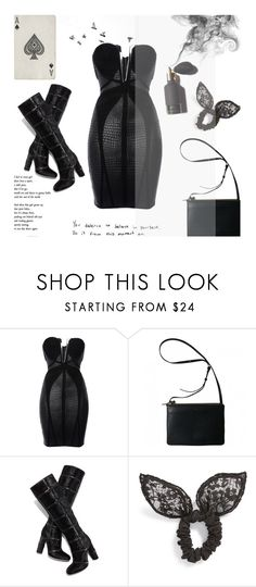 """""""Little black dress"""" by alongcametwiggy ❤ liked on Polyvore featuring Cotton Candy, Hervé Léger, Tom Ford and Cara"""