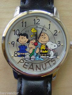Armitron Charlie Brown Peanuts Gang Snoopy Collectible Character Watch Mint…