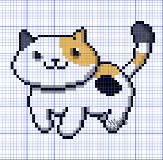 Neko Atsume cross stitch pattern!