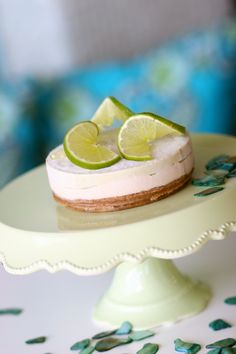 Key-lime raw and vegan cheesecake at Pure Juice Cafe.