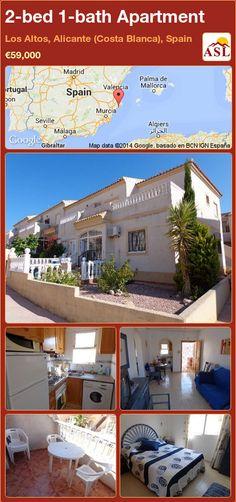 2-bed 1-bath Apartment in Los Altos, Alicante (Costa Blanca), Spain ►€59,000 #PropertyForSaleInSpain