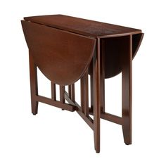 Shop Winsome Wood Alamo x Walnut Wood Round Drop Leaf Table at Lowe's Canada online store. Find Dining Tables at lowest price guarantee. Dining Table In Kitchen, Round Dining Table, Narrow Table, Condo Kitchen, Dining Sets, Small Dining, Dining Rooms, Winsome Wood, Ladder Back Chairs