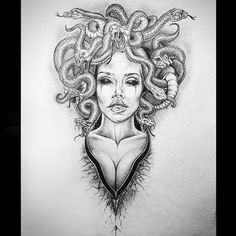 Tattoo sketches 794181715525851909 - Source by Tattoo Femeninos, Form Tattoo, Head Tattoos, Body Art Tattoos, Sleeve Tattoos, Small Tattoos, Ink Tattoos, Medusa Tattoo Design, Tattoo Designs