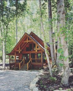 Dreaming of something like this today... #tinyhouse #nature #offgrid by bethanysrobinson