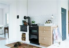 Cute! little wood stove | Modern Scandinavian Country