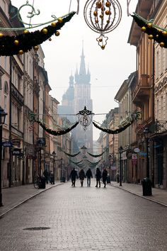 Krakow Poland. Stare Miasto of Krakow is way more better than the Warsaw's. The picture might have been taken around the X'mas time. It was on a heavy showering day when I was there in the fifth month of 2014