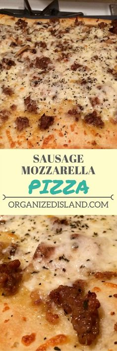 Why spend money on take out when you can make this tasty pizza with sweet sausage and fresh mozzarella! #pizza