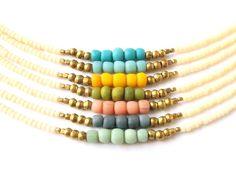 Boho Jewelry Dainty Tribal Bracelet Friendship Bracelet - Pick Your Color - Tribal Jewelry Bohemian Jewelry - Stackable Seed Bead Bracelet on Etsy, $13.00