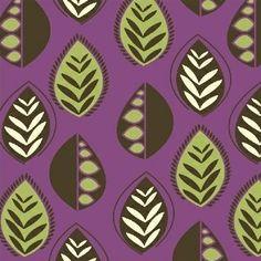 Chelsea - Leaves - Purple $10.75 yd