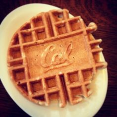 good way to start off the day #waffle #cal #gobears!  (Taken with Instagram) by rjp1994 via Tumblr
