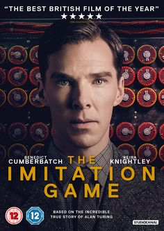 """The Imitation Game (2014) based on the book by Andrew Hodges, directed by Morten Tyldum, starring Benedict Cumberbatch, Keira Knightley,  Mark Strong, Matthew Goode, Allen Leech, Rory Kinnear, Charles Dance and Matthew Beard. """"During World War II, mathematician Alan Turing tries to crack the enigma code with help from fellow mathematicians."""""""