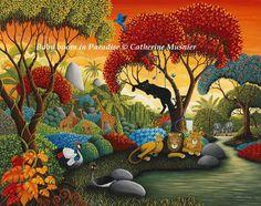 Présentation de l'artiste et de son travail...  Art naïf, peinture animalière jungles et félins...