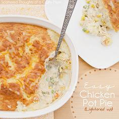 Scattered Thoughts of a Crafty Mom: Chicken Pot Pie Lightened Up